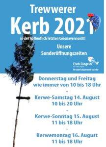 Plakat Kerb Öffnungszeiten 2.0